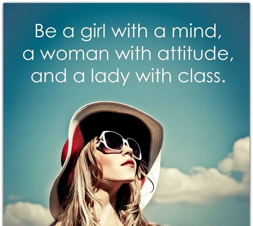 Mind Attitude Class Women Empowerment Quotes