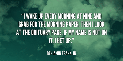 Obituary Page Funny Good Morning Quotes