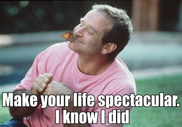 Make Your Life Spectacular. I Know I Did. Robin Williams Aladdin Quotes