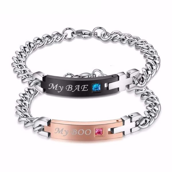 'My Bae' and'My Boo' Couple Bracelet