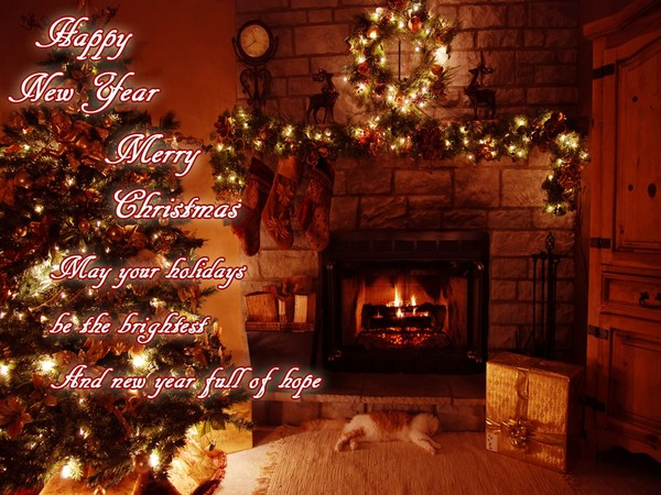 Merry Christmas And New Year Greetings Quotes