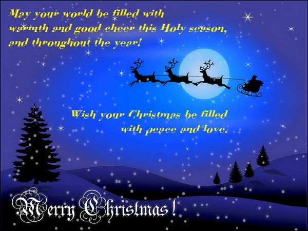 Merry Christmas Greetings To All