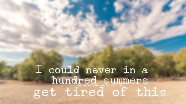 Summer Ending Quotes
