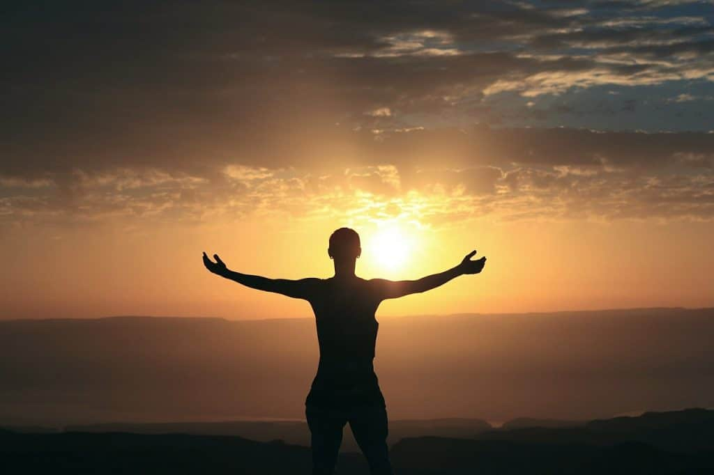 person stretched out in front of the sun quotes about gratitude
