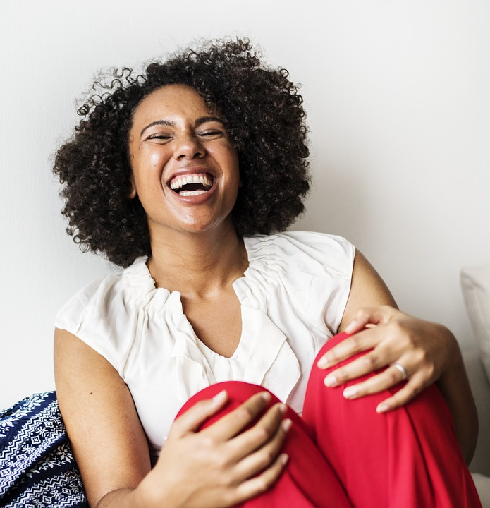 woman laughing funny words of wisdom
