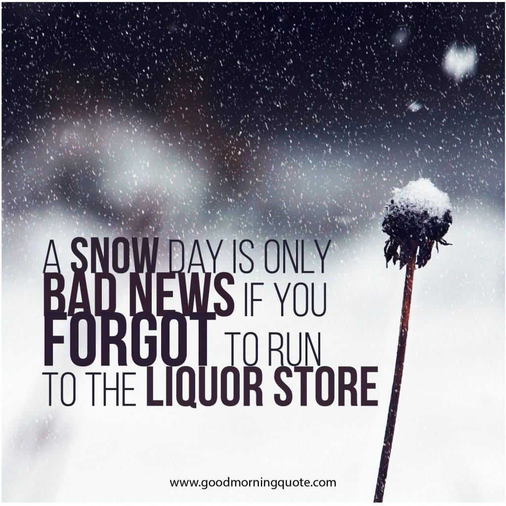 cute snow quotes for winter days good morning quote
