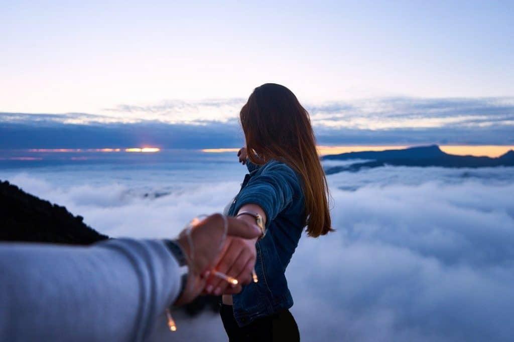 girl holding hand