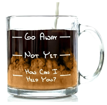 go away funny coffee mug