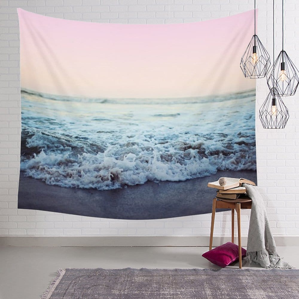 Arfbear Ocean Tapestry, Beach Wall Tapestry with Art Trippy Home Decorations