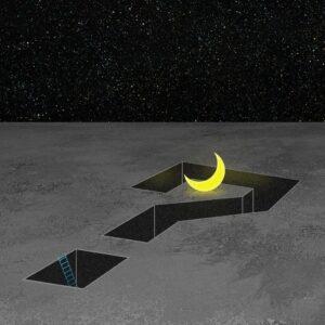 illustration of the moon